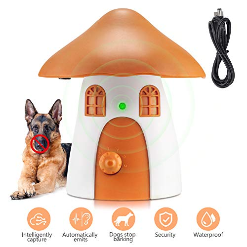 BO-sense Antibellhalsband, Ultraschall Anti-Bellgerät Hundebellen Abschreckung, Automatische Rindenstoppvorrichtung Erziehungshalsband für Hunde Bellen Training mit internem Mikrofon