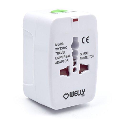 Welly Enjoy wy13100 – Adaptateur compact de voyage universel pour prises...