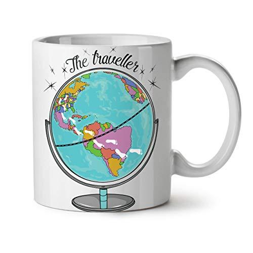 Wellcoda Globe Voyageur Mug en céramique, Mondo Tasse - Grande, poignée...
