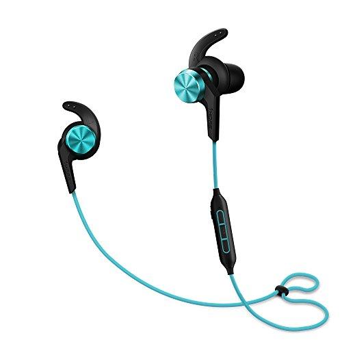 1MORE iBFree in-Ear Earphones Wireless Sport Headphones Bluetooth CSR, IPX 4 Waterproof, Secure Fit in-Line Remote Gym Running Workout - Blue