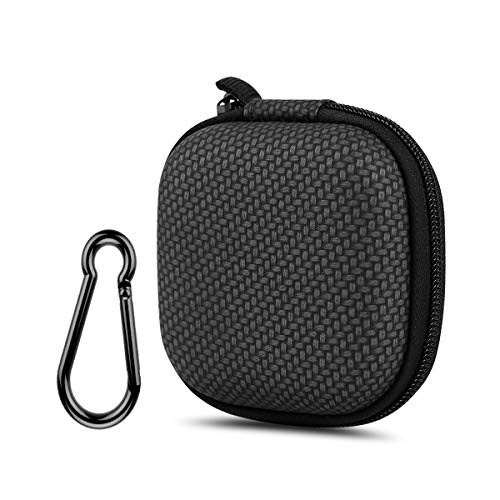 Earphone Case, Music tracker Portable Travel EVA Headphone Storage Bag Earbud&Cell Phone Accessories Organizer Carrying Case Pouch with Carabiner