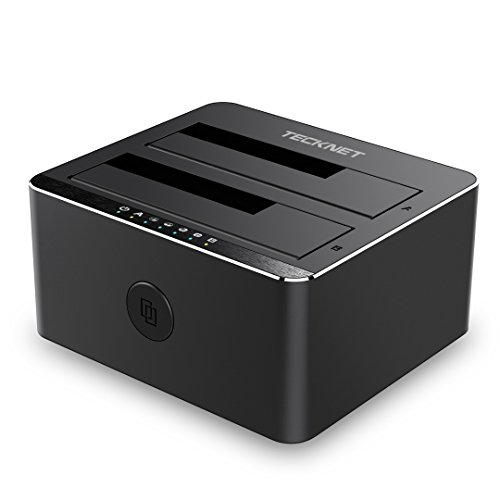 TECKNET USB 3.0 Non in Linea Clone 2-bay Docking Station per Hard Disk HDD/SSD da 2,5' e 3,5' (SATA...