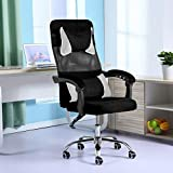 BXzhiri Adjustable Office Chair, Ergonomic Liftable Home Computer Network Chair with Armrs/Wheels for Teens/Students Swivel Home Computer Chair