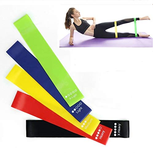 GymWar Resistance Loop Band Set for Squats, Hips & Glutes Heavy Workouts for Men & Women - (Set of 5)