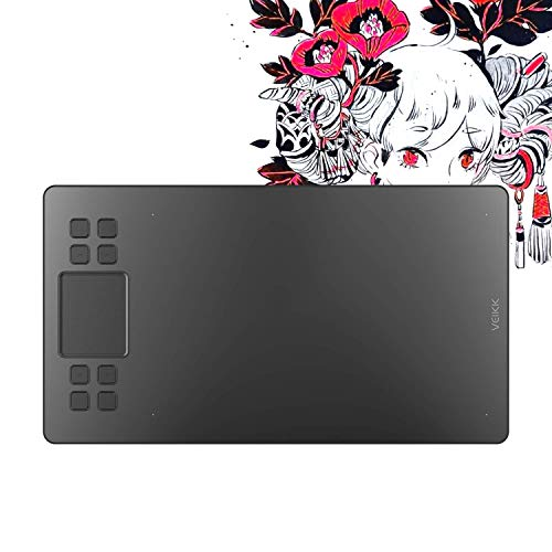 VEIKK A50 Graphics Drawing Tablet with 8192 Pressure Sensitivity(Battery-Free Passive Pen)