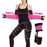 Waist Trainer for Women trimmer Thigh Trainer Sweat Shaper Arm Slimmer Pink
