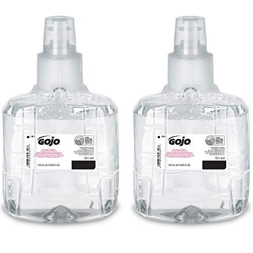 GOJO Clear & Mild Foam Handwash, EcoLogo Certified, 1200 mL Foam Hand Soap Refill for GOJO LTX-12 Touch-Free Dispenser (Pack of 2) - 1911-02