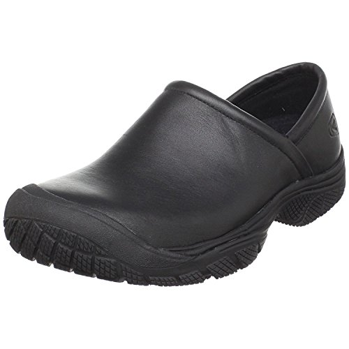 KEEN Utility Men's PTC Slip On 2 Low Height No Lace Chef Food Service Shoe, Black/Black, 10.5 Medium US