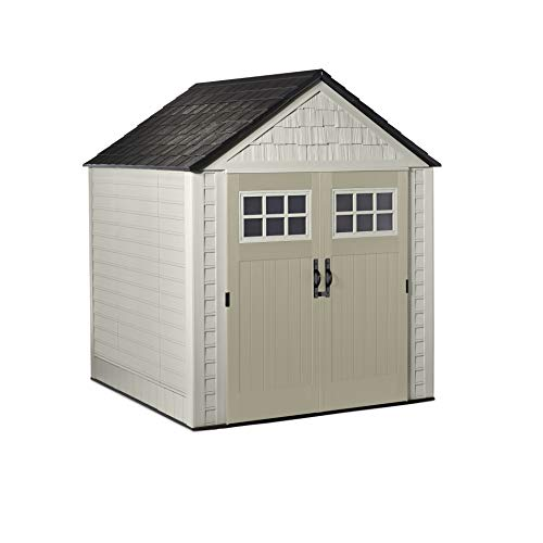 Rubbermaid Outdoor Storage Shed, 7X7 feet, Resin Weather Resistant...