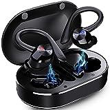Auriculares Inalambricos Deportivos, Auriculares Bluetooth 5.1 con Mic y Caja de Carga USB-C Cascos...
