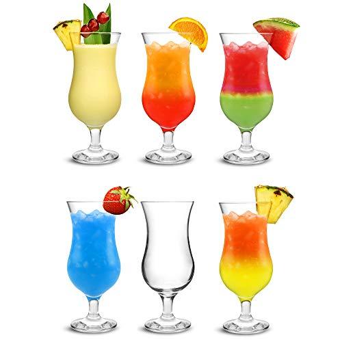 City Pina Colada bicchieri 450 ml - Set di 6 - Scatola regalo classico poco grande Hurricane vetreria
