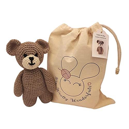Crochet Kit Teddy the Bear Toy Complete Kit - Cute Amigurumi Toy Pattern
