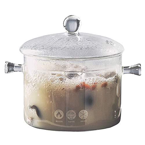 TAMUME 1.5L Pentola di Vetro per Cucinare, Doppia Maniglia