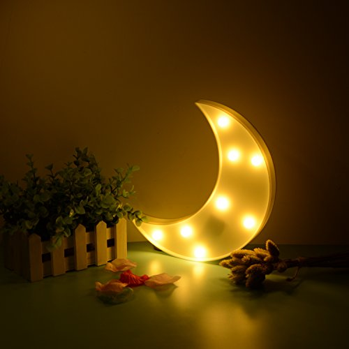 LED Luz nocturna con Star Light, asdomo energy-saving Cute Star lámpara de mesa de noche luz para...