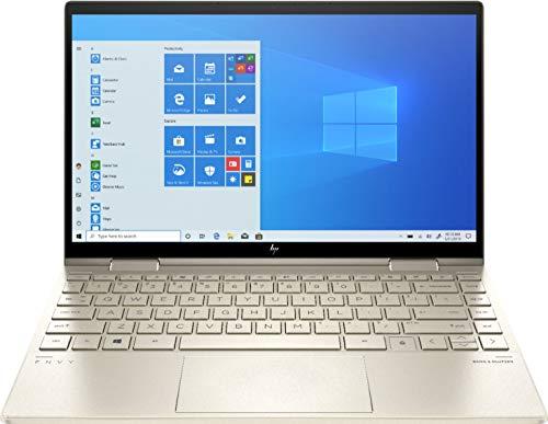 2020 HP Envy x360 2-in-1 13.3' FHD IPS Touchscreen Laptop Intel Evo Platform 11th Gen Core i7-1165G7 8GB Memory 512GB SSD Pale Gold - Backlit Keyboard -Fingerprint Reader -Thunderbolt - WiFi 6