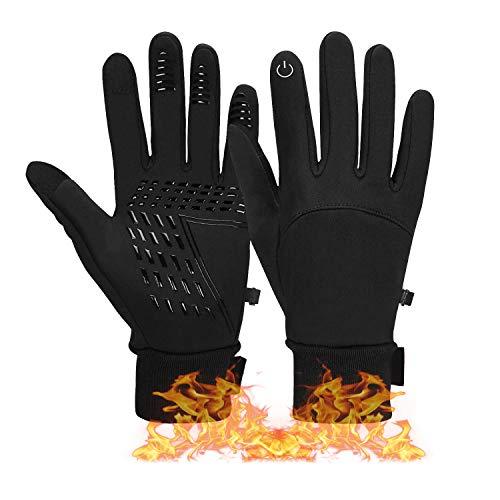 BRZSACR Fahrradhandschuhe für Damen und Herren, Bequeme Winter-Touchscreen-Ski Handschuh, Winddicht, Wasserdicht, Rutschfest, Sehr Gut Geeignet für Fahrräder, Motorräder, Skifahren, Wandern, Camping
