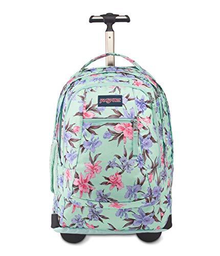 JanSport Driver 8 Rolling Backpack - Wheeled Travel Bag with 15-Inch Laptop Sleeve, Vintage Irises