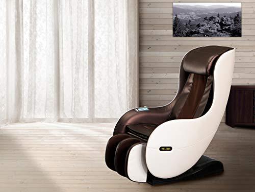 WELCON Massagesessel EASYRELAXX in beige braun mit Wärmefunktion Automatikprogramme Knetmassage Klopfmassage Rollenmassage Airbagmassage Kompression Sessel Massagestuhl