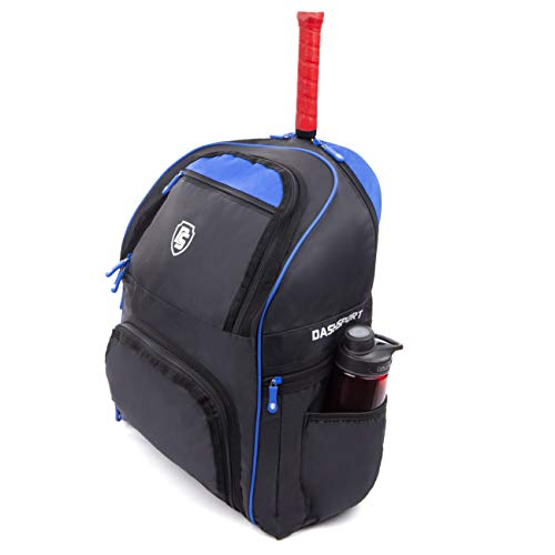 DashSport Tennis Backpack 3 Racket Capacity with Pockets for Racquet Protection - for Men Women and Kids (Blue)