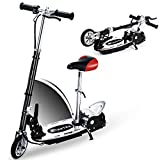 Overwhelming E120 Adjustable Handlebar and Seat Folding Electric Scooter for Kids,177lbs Max Weight Capacity No Kick to Start Motorized Scooters with Removable Seat