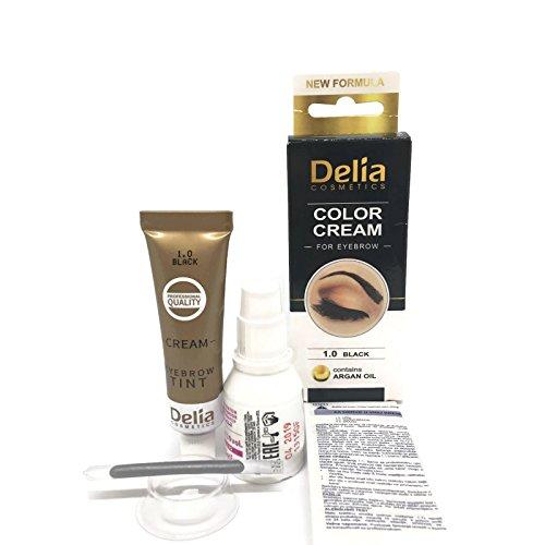 Tinte profesional para, 15ml KIT Delia Negro/Marrón/Marrón Oscuro (Negro)