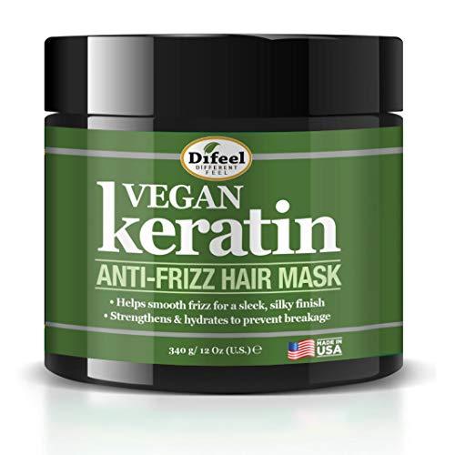 Difeel Vegan Keratin Anti-Frizz Hair Mask 12 oz. -...