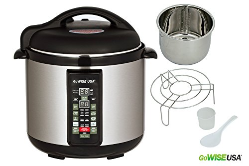 GoWISE USA 8-Quart 8-in-1 Electric Pressure Cooker/Slow...