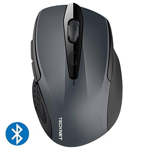 TECKNET Bluetooth Maus, Kompakte Wireless Kabellose Bluetooth Mouse, 5 verstellbare DPI Level, bis zu 2600 DPI, 12 Monate Batterielaufzeit