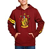 Harry Potter Hoodie Gryffindor Crest Hooded Elbe Forest Red - S