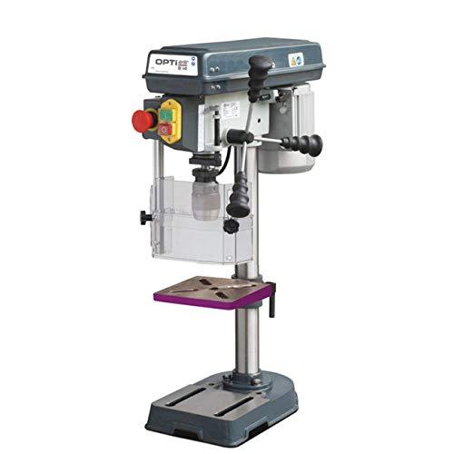 Stürmer Optimum 3008141SET Tischbohrmaschine OPTIdrill B 14 (Keilriemenantrieb, Bohrtisch neigbar und drehbar, Schnellspannbohrfutter)