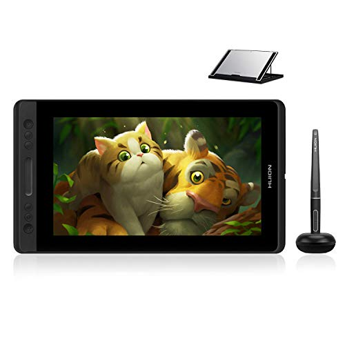 Huion KAMVAS Pro 13 GT-133 Graphics Drawing Monitor Pen Display with Stand Tilt Function Battery-Free Stylus 8192 Pen Pressure - 13.3 Inches