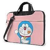 Hdadwy Bolso para portátil de 14 Pulgadas Maletín para Ordenador portátil Doraemon Lindo Funda para Bandolera Bandolera