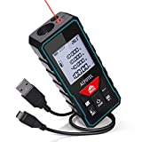 Laser Measure, ACPOTEL 196ft M/In/Ft Laser Distance Meter with Electronic Angle Sensor, USB Rechargeable Laser Measuring Device with Backlit LCD for Pythagorean, Distance, Area and Volume Measuring