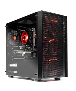 SkyTech Blaze - Gaming Computer PC Desktop – Ryzen 5 1600 6-Core 3.2 GHz, NVIDIA GeForce GTX 1050 Ti 4GB, 1TB HDD, 8GB DDR4, AC WiFi, Windows 10 Home 64-bit (8GB Version)