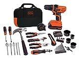 BLACK+DECKER 20V MAX Drill & Home Tool Kit, 68 Piece...