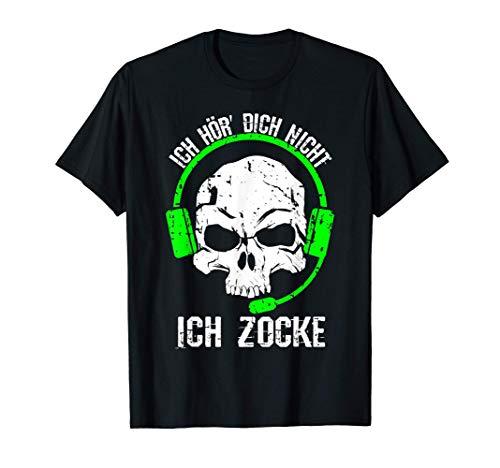 Ich hör dich nicht ich zocke Gaming Gamer Geschenk T-Shirt