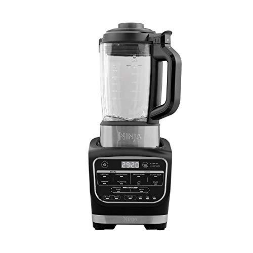 Ninja Blender & Soup Maker Cuiseur et mixeur à soupe [HB150EU] Auto-iQ , Élément Chauffant intégré, Verseuse en verre, Facile à nettoyer, 1,7 L, 1 000 W, Noir