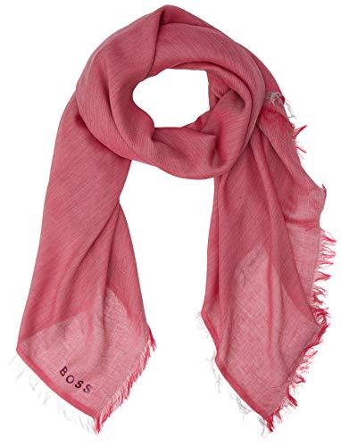 BOSS Damen Nalu_2 Schal, Rosa (Bright Pink 672), One Size (Herstellergröße: ONESI)