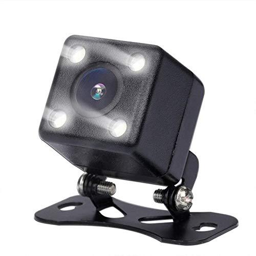 Telecamera Posteriore per Auto Universale Telecamera per Visione Notturna per Auto Regolabile A Sospensione Grandangolare 170 ° con Luce LED Impermeabile Antiurto Telecamera per Retromarcia