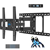 Mounting Dream TV Mount Full Motion TV Wall Mounts for 26-55 Inch Flat Screen TV, Wall Mount TV Bracket with Dual Arms, Max VESA 400x400mm and 99 LBS, Fits 16', 18', 24' Studs MD2380-24K TV Mounts