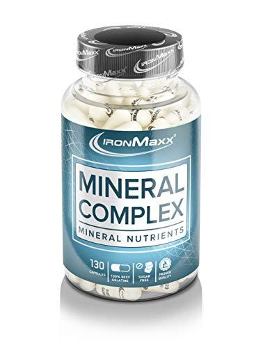 Ironmaxx Mineralkomplex - 130 Kapseln - Hochdosierte Multimineralkapseln mit wichtigen Mineralstoffen und Spurenelementen - Designed in Germany