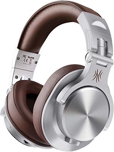 Casque Bluetooth 50 Heures d'Autonomie OneOdio A70 Casque Audio sans Fil avec Microphone Antibruit CVC 8.0, Casque Studio, Casque Monitoring, Compatible Smartphone Tablette PC Piano Guitare AMP