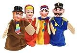 Toys Pack 4 marionnettes a Main Personnages (guignol, Chaperon Rouge, Gendarme, Voleur) - Hand Puppet - Jouet Theatre Enfant, Bebe