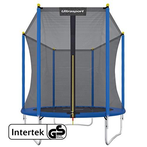 Ultrasport Trampolino da Giardino Uni-jump Testato Intertek GS, set con tappeto elastico, rete di...