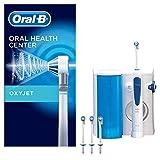 Oral-B, Sistema de Limpieza Irrigador Bucal con Tecnología Braun, 4 Cabezales, Blanco/Azul