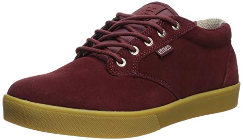 Etnies Men's Jameson MID Crank Skate Shoe, Burgundy/Gum, 8.5...