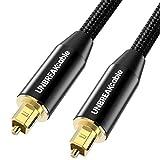 UNBREAKcable Cable Optique Audio 2M [Plaqué Or] Cordon Optique Numérique...