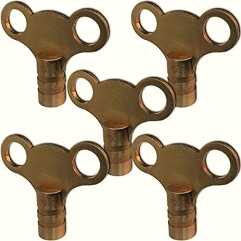Tansons® Radiator Air Vent Bleed Key - Solid Brass/Premium Quality - Made in The UK (5)