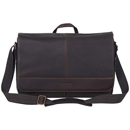 Kenneth Cole Reaction Come Bag Soon - Colombian Leather Laptop & iPad Messenger, Brown