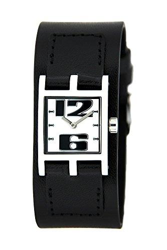 Bruno Banani BR21065 Damen-Armbanduhr, Lederarmband, Schwarz
